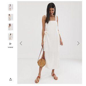 ASOS DESIGN Tall Square Neck Cami Maxi Dress US 12